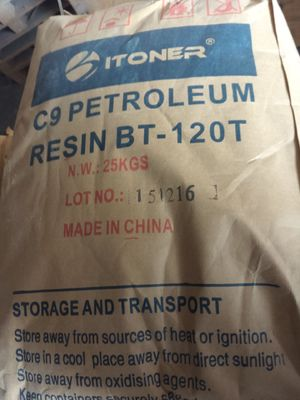 China Popular Grde Industrial Paint Hydrocarbon Resin C9 BT - 120T Brown Yellow Color supplier